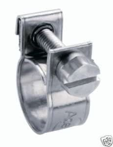 Clarik Ace Mini Clip de tuyau en Inox 16 à 18 Mm Lot de 10