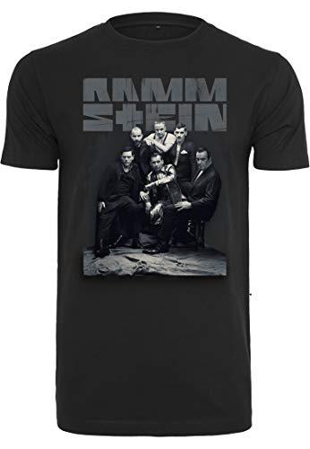 Rammstein Herren Band Photo Tee T-Shirt, Black, S