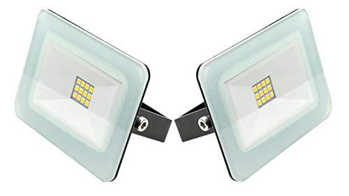 Trango 2er Pack LED Strahler 12V - 24 Volt 3000K warm-weiß TGIP65-103DC2 Arbeitslicht I Ladeflächenbeleuchtung I Ladeflächenstrahler I Arbeitsleuchte I Fluter -