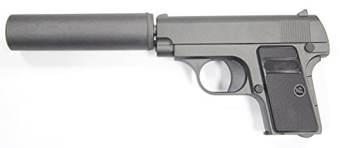 PISTOLET A BILLES G1A G.1A FULL METAL ALLIAGE ZINC SPRING + SILENCIEUX 0.3 JOULE AIRSOFT AC80017 REPLIQUE DE POING GALAXY