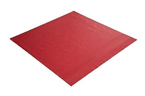 Sensalux Mittel-Tischdecke, OEKO-TEX® 100, abwaschbar, Rot, 1m x 1m (Farbe wählbar), stoffähnliches Vlies, Party, Catering, Vereinsfeier, (Papier Tischdecken Weihnachten)