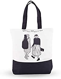 Shoppertize Latest Multipurpose Tote Bag, Designer Tote Bag, Tote Bag For College Girls -White