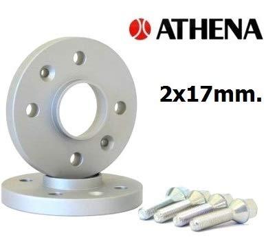 ATHENA.. Paire de Roues de 17 mm. TWINGO I de mai 1997 à 2007 avec boulons en Acier.