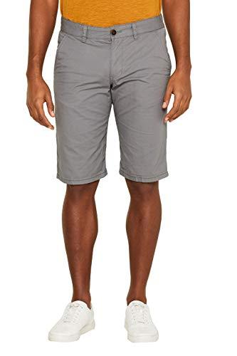 edc by ESPRIT Herren 999CC2C800 Shorts, Grau (Dark Grey 020), W(Herstellergröße: 34) Basic-zipper