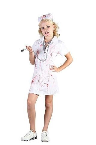 Mad Krankenschwester Kostüm Kinder Halloween - 134cms M (Mad Krankenschwester Halloween Kostüm)