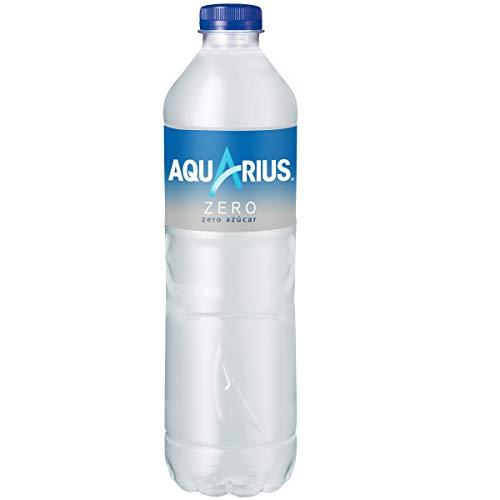 Aquarius - Zero Limón, Bebida para deportistas, refresco sin gas, 1.5 l, Botella de plástico