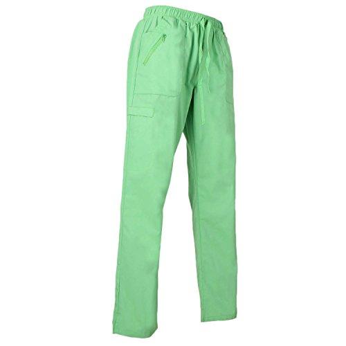 Misemiya - pantaloni di lavoro signora uniforme clinica ospedale pulizia veterinario igiene ospitalitÁ - ref.q708 - x-small, apple green