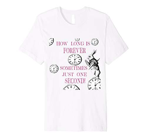Alice im Wunderland weiß Kaninchen T-Shirt Wie lange ist Forever -