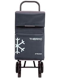 Rolser TER039 Quattre - Carro de la compra con 4 ruedas y bolsillo térmico, color gris Marengo