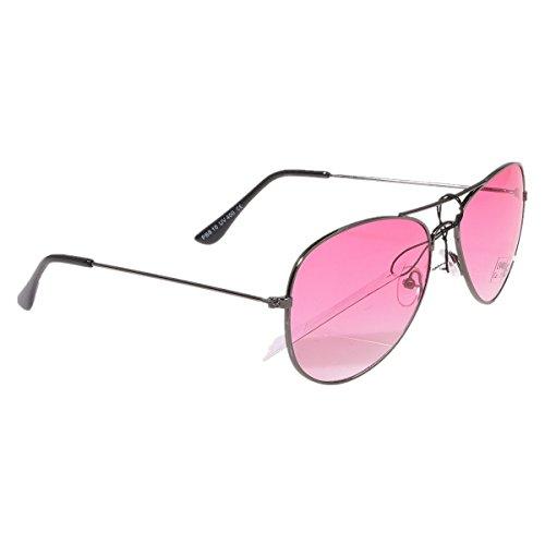 Pilotenbrille Sonnenbrille Fliegerbrille Pornobrille mit Federscharnier NICHT verspiegelt (Klar) PBS10