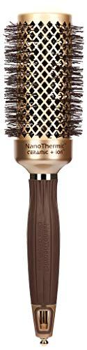 Olivia Garden Haar-Rundbürste NanoThermic 15945, NT-44, 44/ 60 mm mit Keramikkörper und Nylonborsten