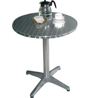 Wicker Outdoor-esstisch (Bolero Salon-Garten Tisch rund mit Rand gewölbt Grundlage sehr strapazierfähige (Durchmesser: 80x 72cm)