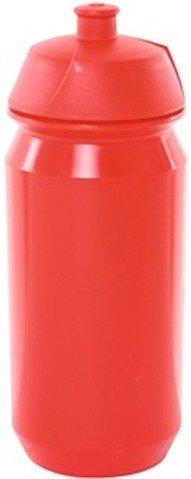 Tacx Trinkflasche Shiva Biologisch abbaubar, rot, 500 ml, Mit screw-on Kappe, durch die große Öffn -