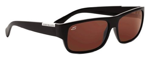 Serengeti Monte Sonnenbrillen, Farbe Linse Polarized Drivers, Objektiv-Kategorie 3, Schwarz