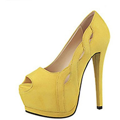 Moda Donna Sandali Sexy donna tacchi tacchi estate pu Casual Stiletto Heel altri Nero / Giallo / rosa / rosso / Fucsia Altri Yellow