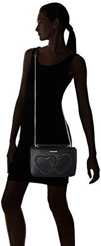 Love Moschino Donna Borse a spalla JC4120PP14LR0000 Borsa calf pu a spalla Nero (Black)