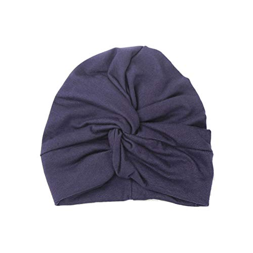 Fenical Kreuz Schal Cap Kopfschmuck Baumwolle Cross Indian Hut Kopftuch Hut Twisted Hat für Baby Kids (Navy)
