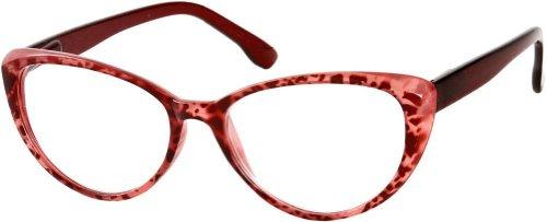 +2.50 Katzenaugen Lesebrille, Leopard Rote Vorderseite mit Federbandbügeln, Retro Designer Mode Damen 2.50 Verschreibung