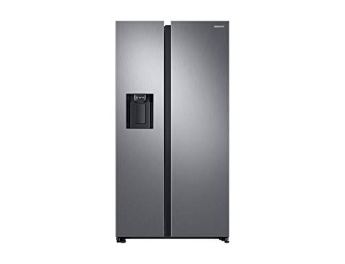 Samsung RS68N8241S9/EF Freestanding 617L A++ Stainless steel side-by-side refrigerator - Side-By-Side Fridge-Freezers (Freestanding, Stainless steel, American door, LED, R600a, Glass)