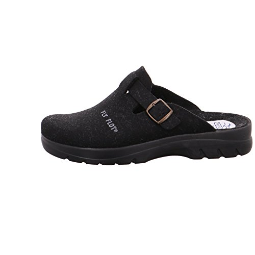 Fly Flot , Chaussons Mules homme Schwarz