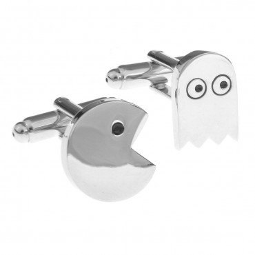 pacman-and-ghost-cufflinks-with-giftbox-business-wedding-gift-present-accessories-for-men