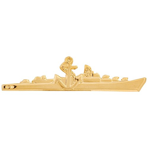 TripinBest Seller Silver Golden Classic Ship Shape Tie Pin Tie Clip For...