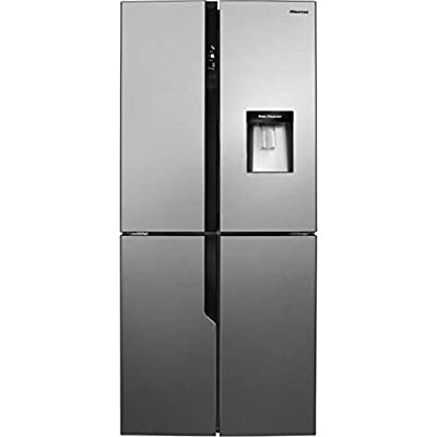 Hisense FMN431W20C Freestanding A+ Rated American Fridge Freezer -Stainless Steel Effect