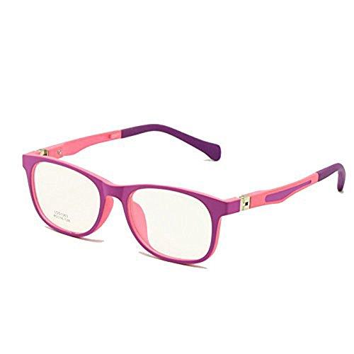 EnzoDate Kinder Brille TR90 Größe 45 Safe Biegsam mit Federscharnier Flexible Optischen Rahmen Jungen Mädchen Kinder Brillen Plano Objektive