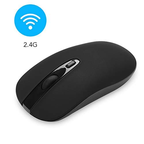 cimetech Kabellose Maus 2.4G Maus Schnurlos Optische Maus Wireless Mouse 1600 DPI Mäuse mit USB Nano Empfänger für PC/Tablet/Laptop und Windows/Mac/Linux (BAT Schwarz) -