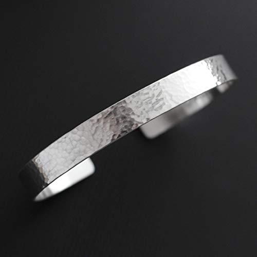Manufaktur SELECT 925 Silber Armreif gehämmert personalisiert - für Damen und Herren