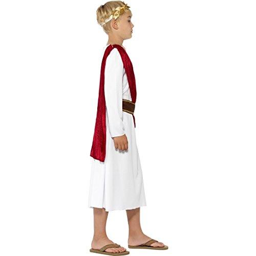Kaiser Caesar Gewand L 10-12 Jahre 140-158 cm Römische Toga Kinder Römer Kostüm Karnevalskostüme Jungen Antike Faschingskostüm Griechische Kutte (Antike Römische Kostüme Für Kinder)