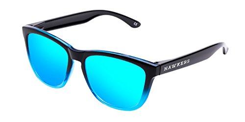 Hawkers Fusion Clear Blue , Gafas de Sol Unisex, Negro/Azul