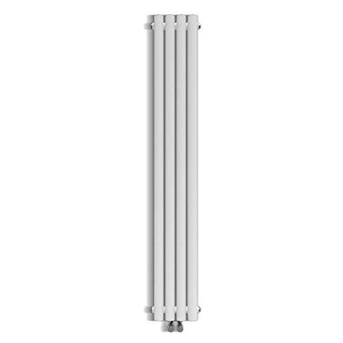 Design Röhren Heizkörper Weiß\\ Antrazit Oval Paneelheizkörper Vertikal Mittelanschluss Einlagig