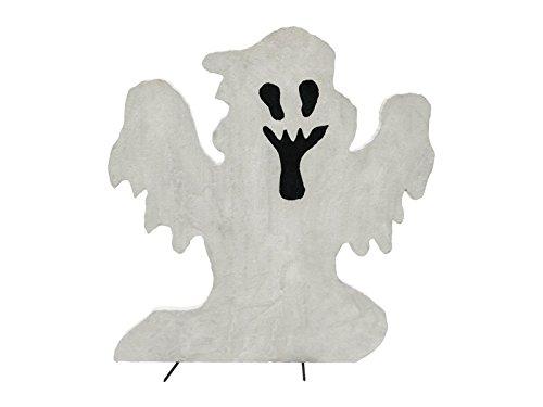 Geist SPOOKY GHOST, weiß, 58 cm - Fenster Dekoration - showking (Halloween Silhouetten Geist)