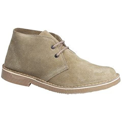 Mens ROAMERS Round Toe Suede Desert Boots Camel/Taupe size 8 UK by Roamer