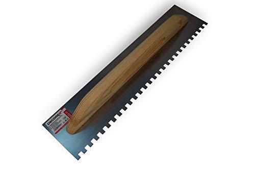 Schweizer Aufziehplatte Zahnkelle 10x10mm - 550x130 Traufel Abzieher