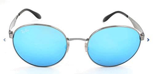 Ray-Ban Herren Sonnenbrille Mod. 3537, Gunmetal/Greenmirrorblue, One Size (Herstellergröße: 51)