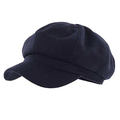 Gisdanchz Gorra Lana Mujer Boina Lana Newsboy Hat