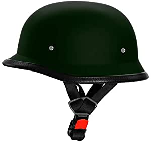 AutokraftZ GERMAN-STYL Half Face Helmet (Green, M)