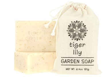 Greenwich Bay Set of 2 - Exfoliating Garden Shea & Cocoa Butter Soap 181g In Cloth Sack (Tiger Lily) by Greenwich Bay Trading