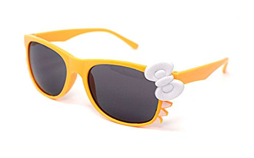 Ultra® Orange mit weißen Bogen süß Multi Color Kostüm spielen Cos spielen 3D-Brille für Kinder Kinder Objektiv Hase Herz Bogen Frames