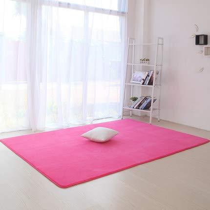 Ultra-moderne-couchtische (Homeve Coral Samt Verdickung Teppich modernen minimalistischen Schlafzimmer Wohnzimmer Matte Couchtisch Sofa Matte volle Nacht rechteckige Decke)