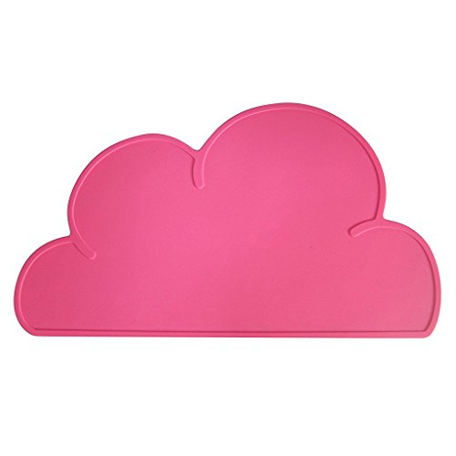 Addfun®Kids Silikon Wolke Platzdeckchen Non Slip Tischset Schutz Speise Dekoration Tragbar Baby Tischsets Rose Rot