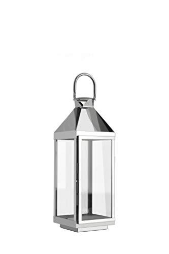 home + Lanterne en acier inoxydable - anti-corrosion, résistant aux intempéries - Différentes tailles disponibles (pointe) - Mittel (60cm)