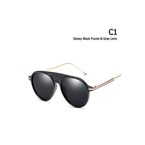 Daawqee Prämie Sonnenbrillen,Brillen, Trend Aviation Pilot Style Three Color Stripe Sunglasses Men Women Brand Design Sun Glasses Oculos De Sol 2730