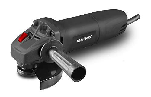 Matrix Winkelschleifer 115 mm | 500 Watt | mit Funkenschutz und Zusatzhandgriff (dreiseitig Montierbar) | 11.000 Umdrehungen pro Minute | Spindelarretierung