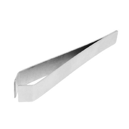 SODIAL (R) 10 centimetri lunghezza pinzette tono argento in acciaio