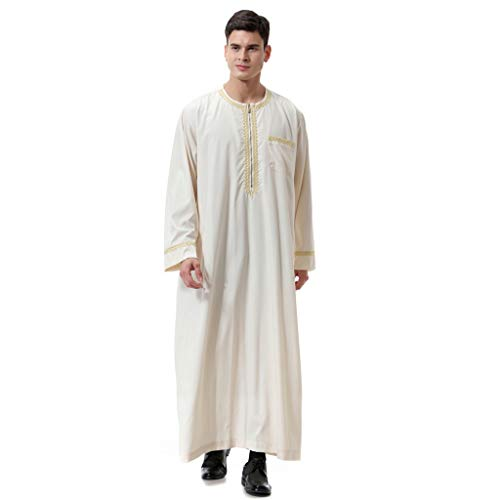 Saudi-arabische Roben Herren Kaftan Kleidung Dubai Muslim Thobe Indien Türkisch Kleider der Männer Mittlerer Osten Robe Kleid Maxikleid Lange Bluse - Thawb Kostüm