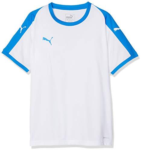 Puma Kinder Liga Jersey Jr T-Shirt, White/Electric Blue, 128