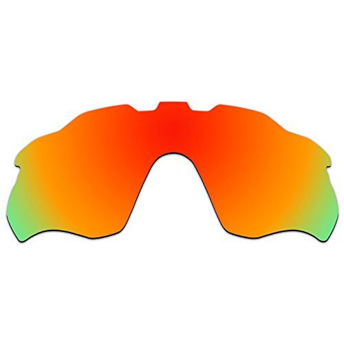 ACOMPATIBLE Ersatz-Gläser für Oakley Radar Pace, oo9333, Fire Red Mirror - Polarized